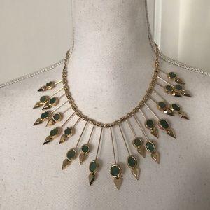 BCBGMaxAzria Gold Spike Sunburst Necklace